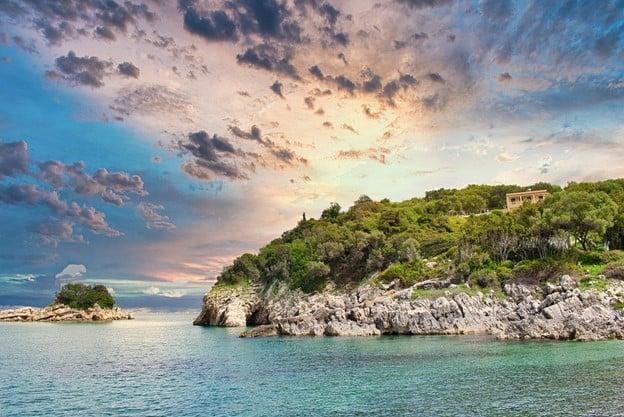 A small cliff on Corfu Island